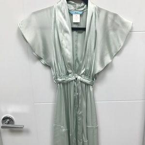 Marciano Mint Green Silk Flounce Dress